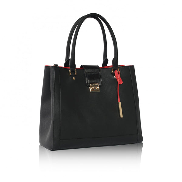 Jocelyn Black Large Tote Bag