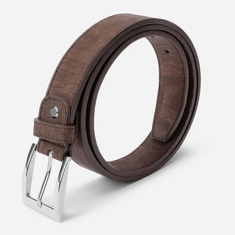 CORK BELT 30MM-BROWN