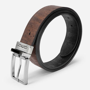 REVERSIBLE BELT 35MM-BROWN