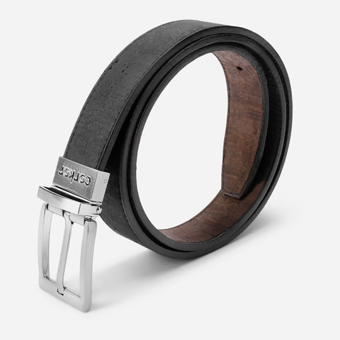 REVERSIBLE BELT-BLACK