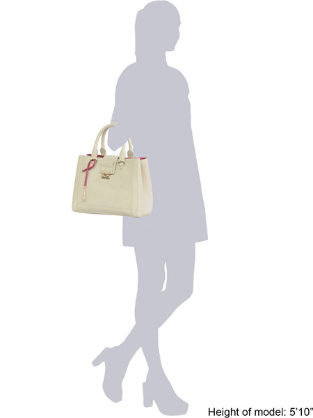 Jocelyn Off White Medium Tote Bag
