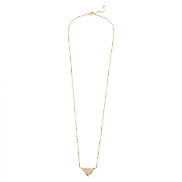 Gold Sterling silver triangle necklace