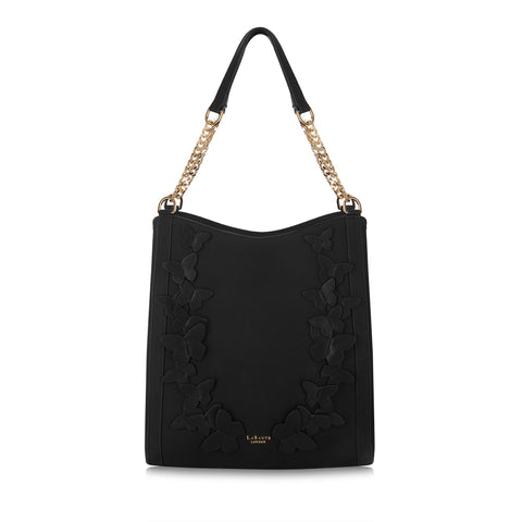 Sylvaine Black Hobo Bag
