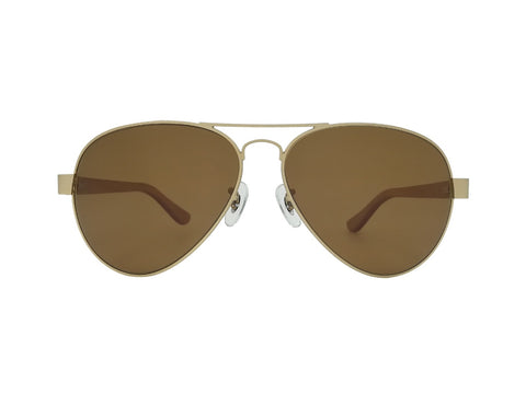 Beech Wood Bailey Gold Aviator Sunglasses