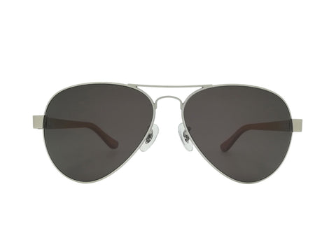 Beech Wood Bailey Silver Aviator Sunglasses
