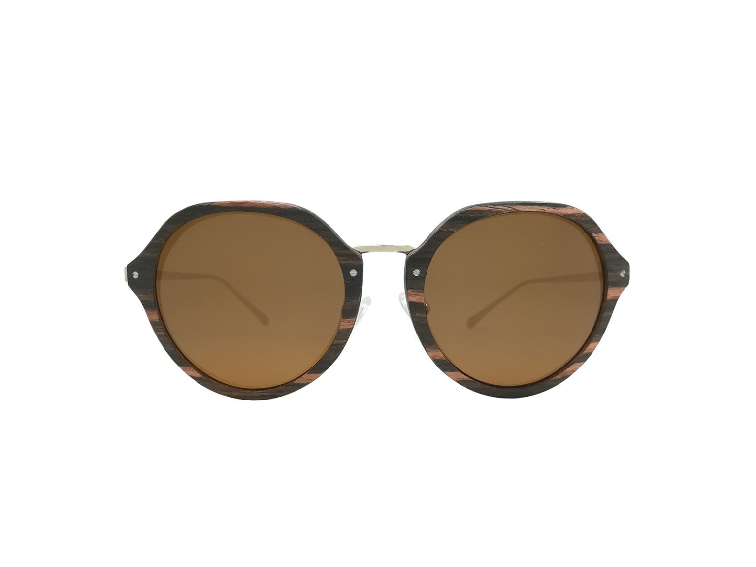 Ebony Wood Pembroke Octagonal Sunglasses