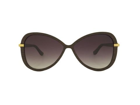Wenge Wood Chloe Butterfly Sunglasses