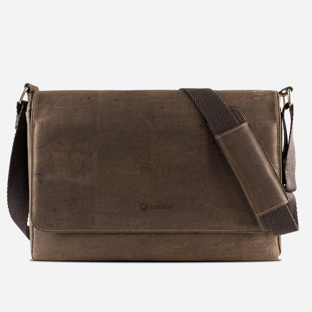 MESSENGER BAG-BROWN
