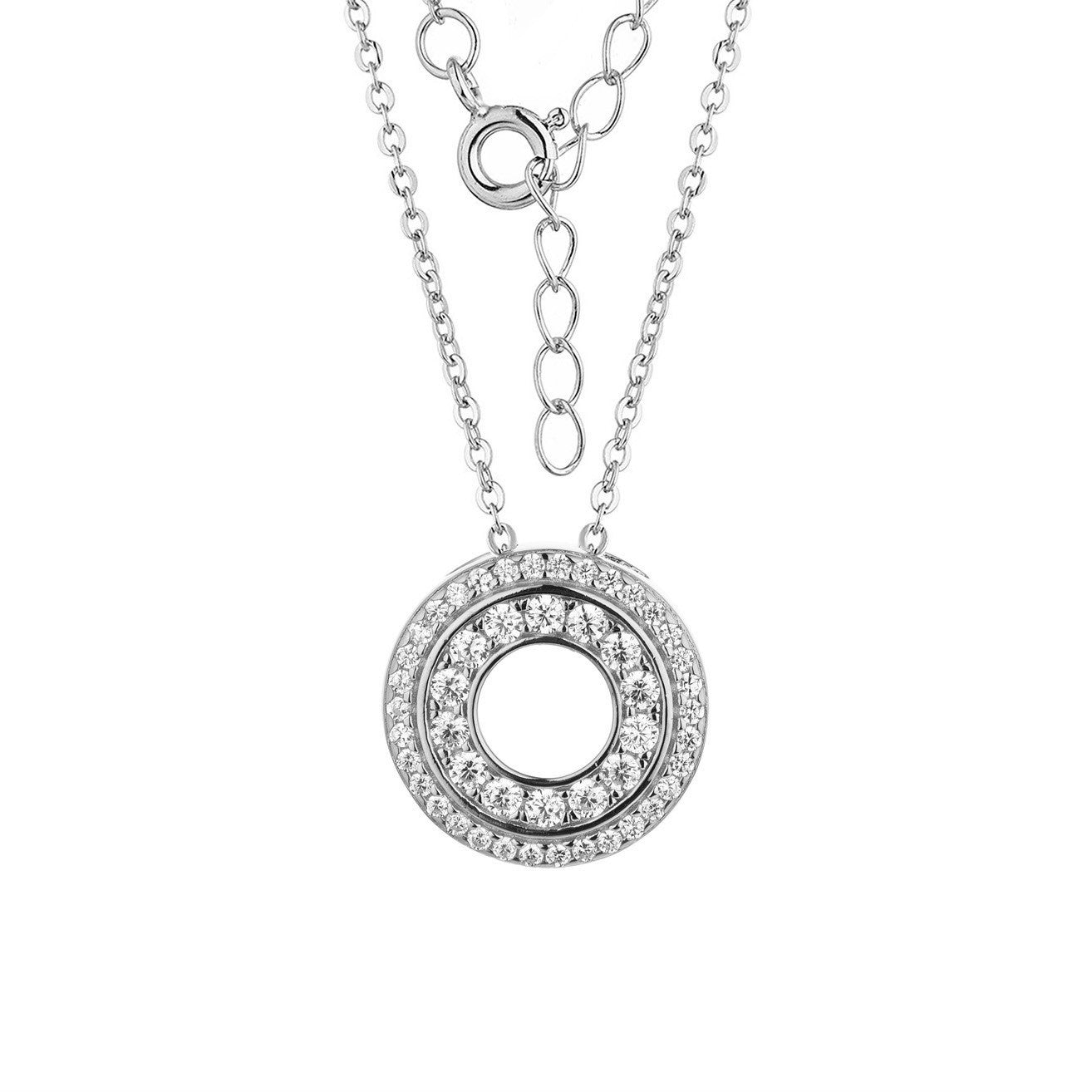 Eternity sterling silver pendant with Chain