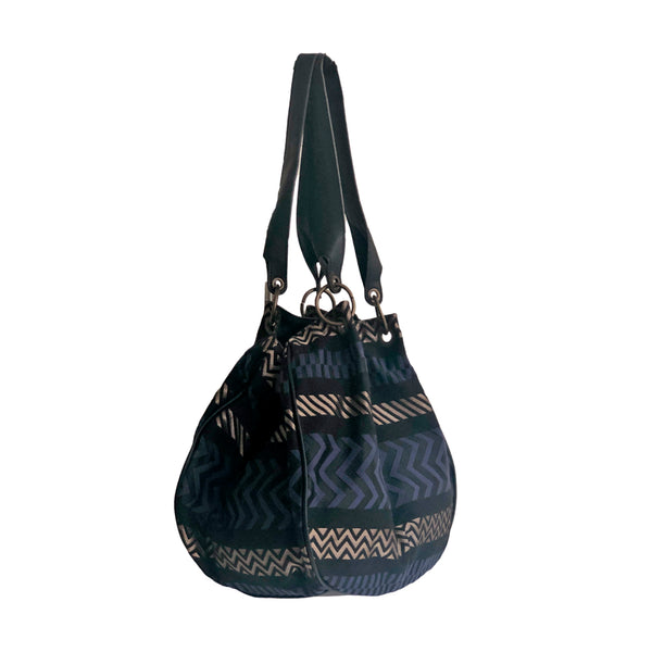 Hobo OMAN - Jacquard midnight blue
