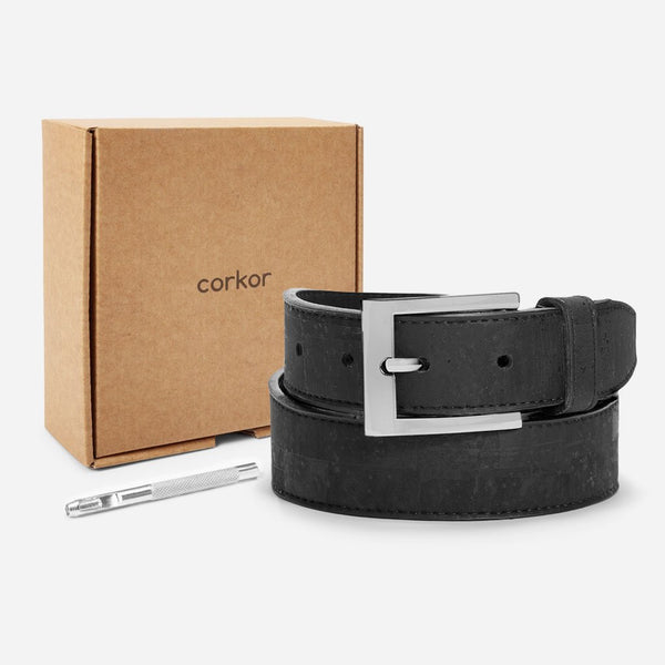 CORK BELT 30MM-BLACK