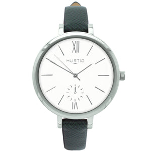 AMALFI WOMEN'S WATCH, SILVER/WHITE/GREEN