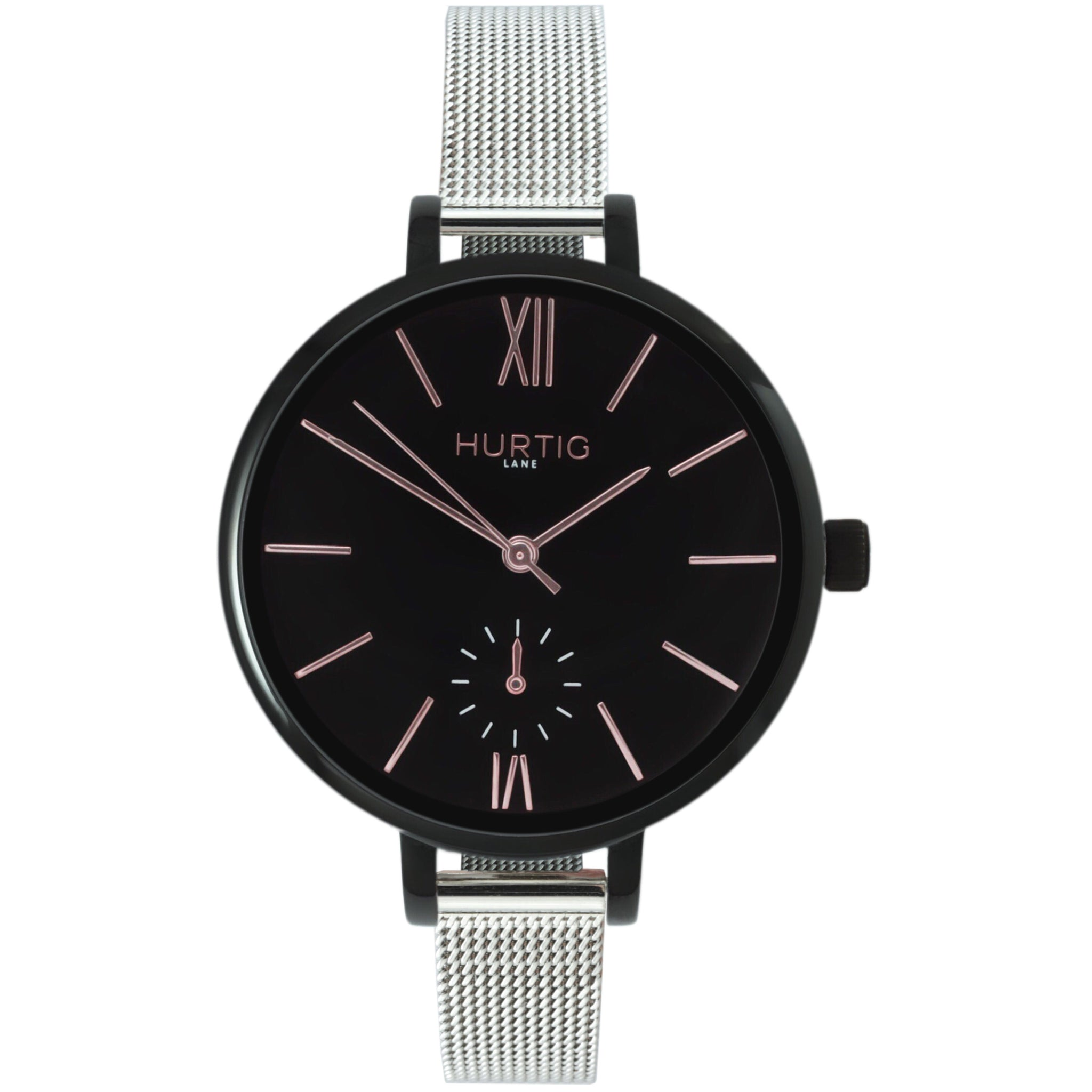 AMALFI WOMEN'S WATCH, BLACK/BLACK/SILVER