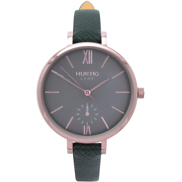 AMALFI WOMEN'S WATCH, ROSE GOLD/GREY/GREEN