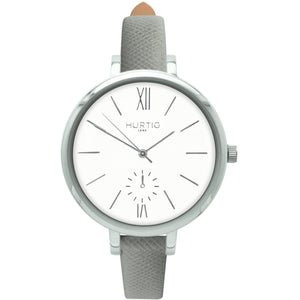 AMALFI WOMEN'S WATCH, SILVER/WHITE/GREY