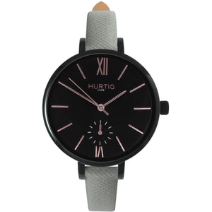 AMALFI WOMEN'S WATCH, BLACK/BLACK/GREY
