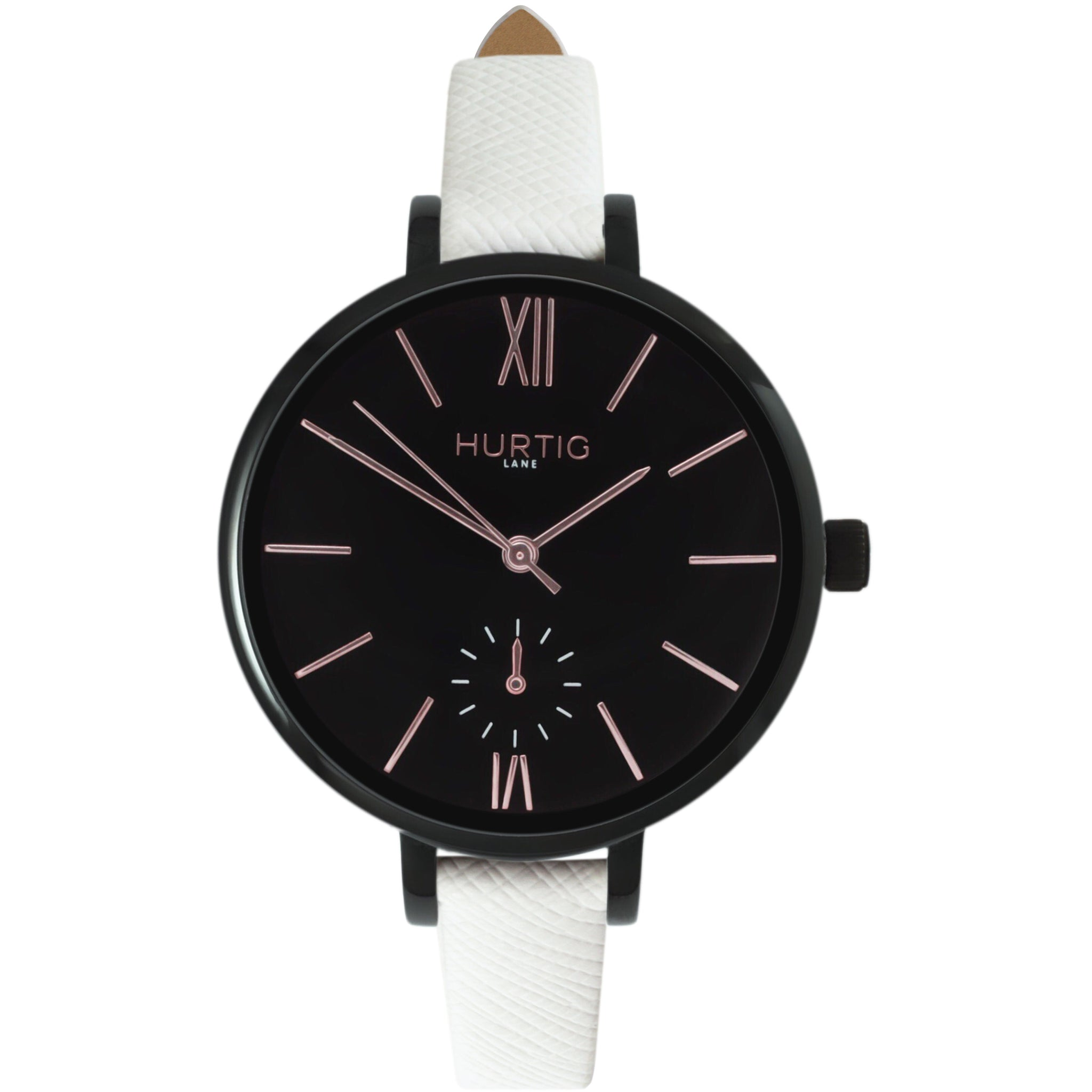 AMALFI WOMEN'S WATCH, BLACK/BLACK/WHITE