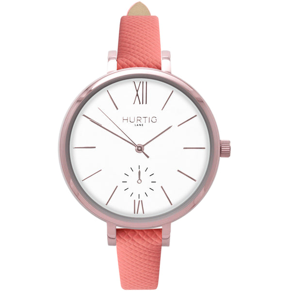 AMALFI WOMEN'S WATCH, ROSE GOLD/WHITE/CORAL