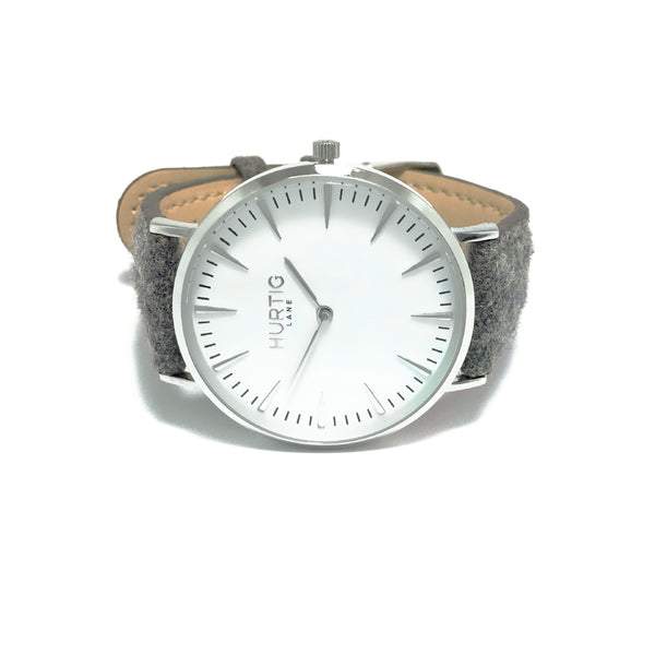 HYMNAL MEN'S WATCH, SILVER/WHITE/GREY