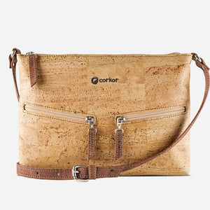 SMALL CROSSBODY PURSE-LIGHT BROWN/RED