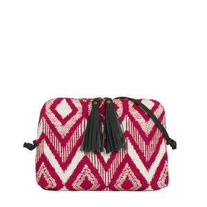 TASMAN bag - red diamond jacquard