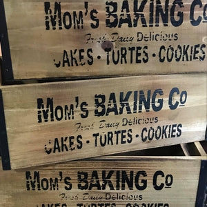 Mom's Baking Co Crates