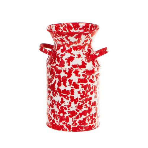 Red & White Splatter Milk Pail Canisters