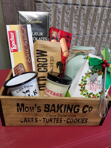 Mixed Sweet with Vintage Decor Gift Basket