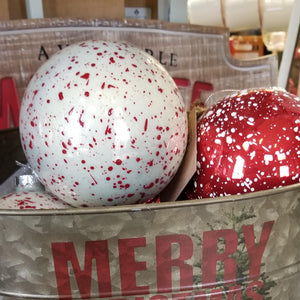 Splatter Glass Ball Ornaments