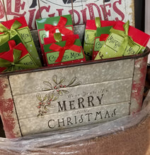Nesting Holiday Metal Crates