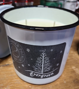 Evergreen Chalkboard Enamel Candles
