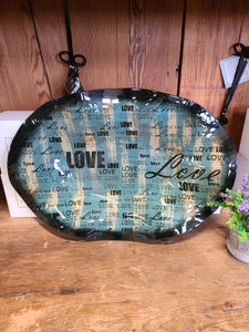 Love Glass Platter