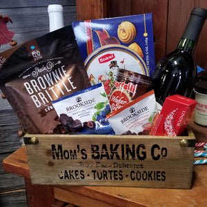 Custom Decor Basket with Mom's Baking Crate Co