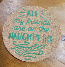 Holiday Cork Coasters