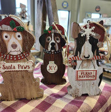 Wooden Dog Ornaments