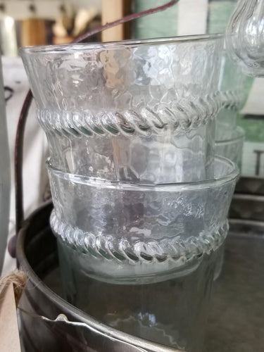 Embossed Braided Clear Drinking Glasses