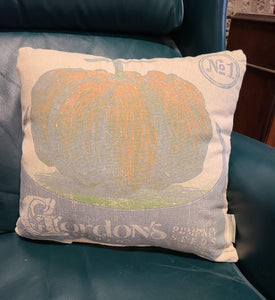 "Vintage ""Gordons"" Pumpkin Seeds Pillow"