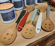 Load image into Gallery viewer, Coloured Wooden Cooking Spoons - Holed