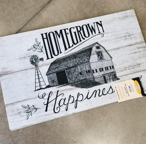 """Homegrown Happiness"" Indoor Mat"