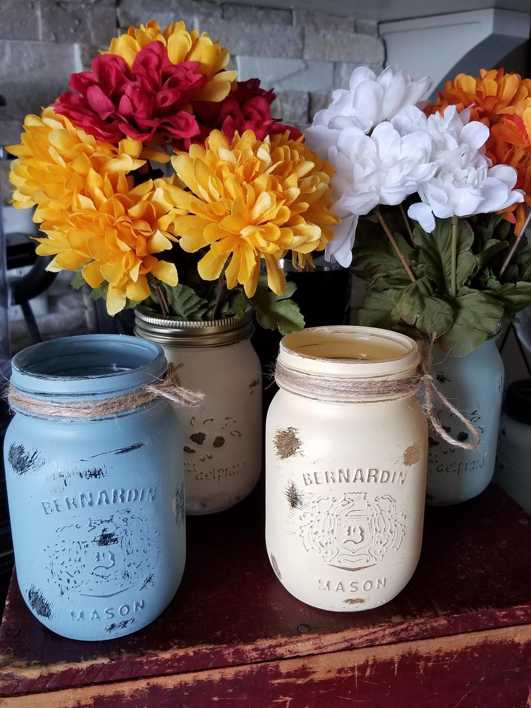 Small Painted Mason Jars
