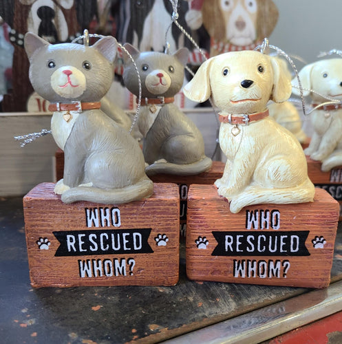 Who Rescued Whom Ornaments