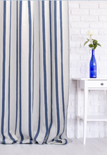 Load image into Gallery viewer, Striped Curtains with Stripes