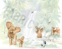 Load image into Gallery viewer, Watercolor Nature - Elephants