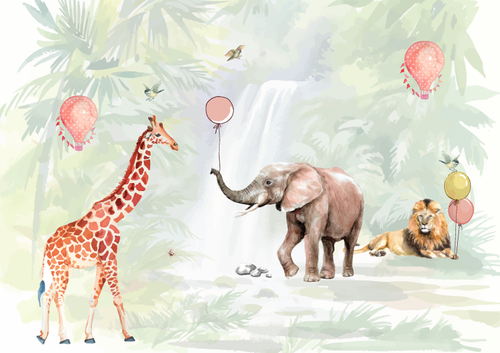 Safari Kids Wallpaper for Girls