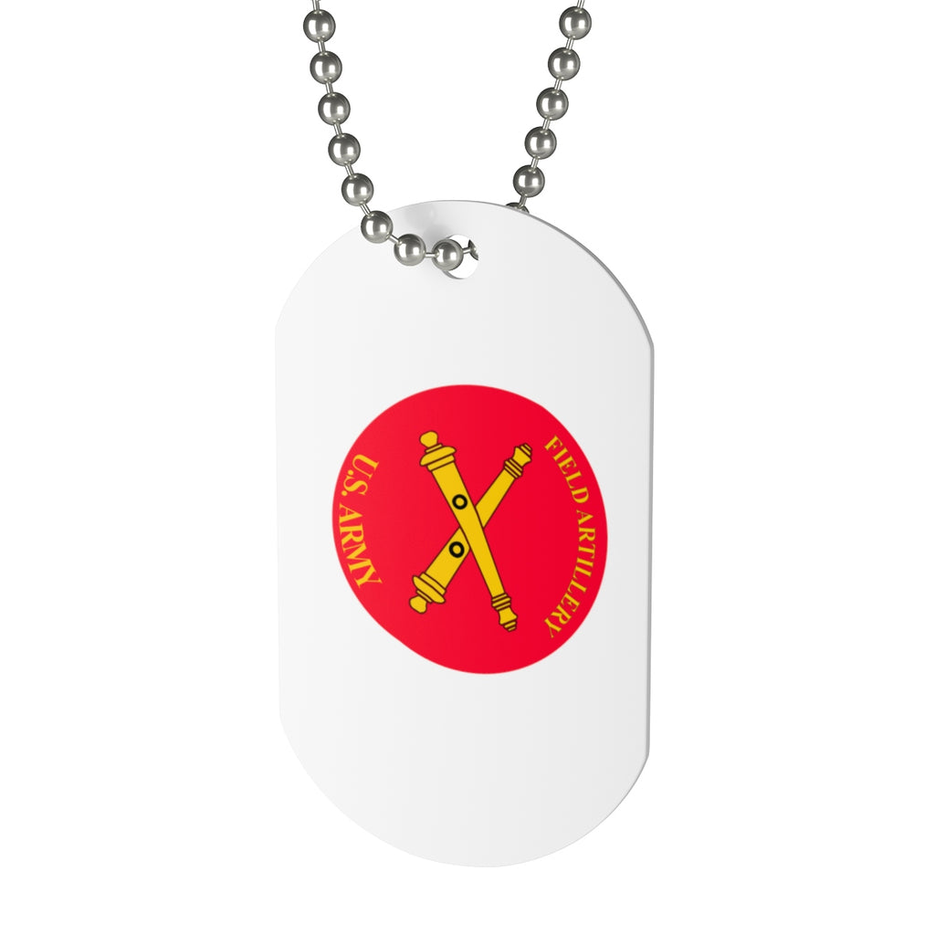 Red US Army Dog Tag
