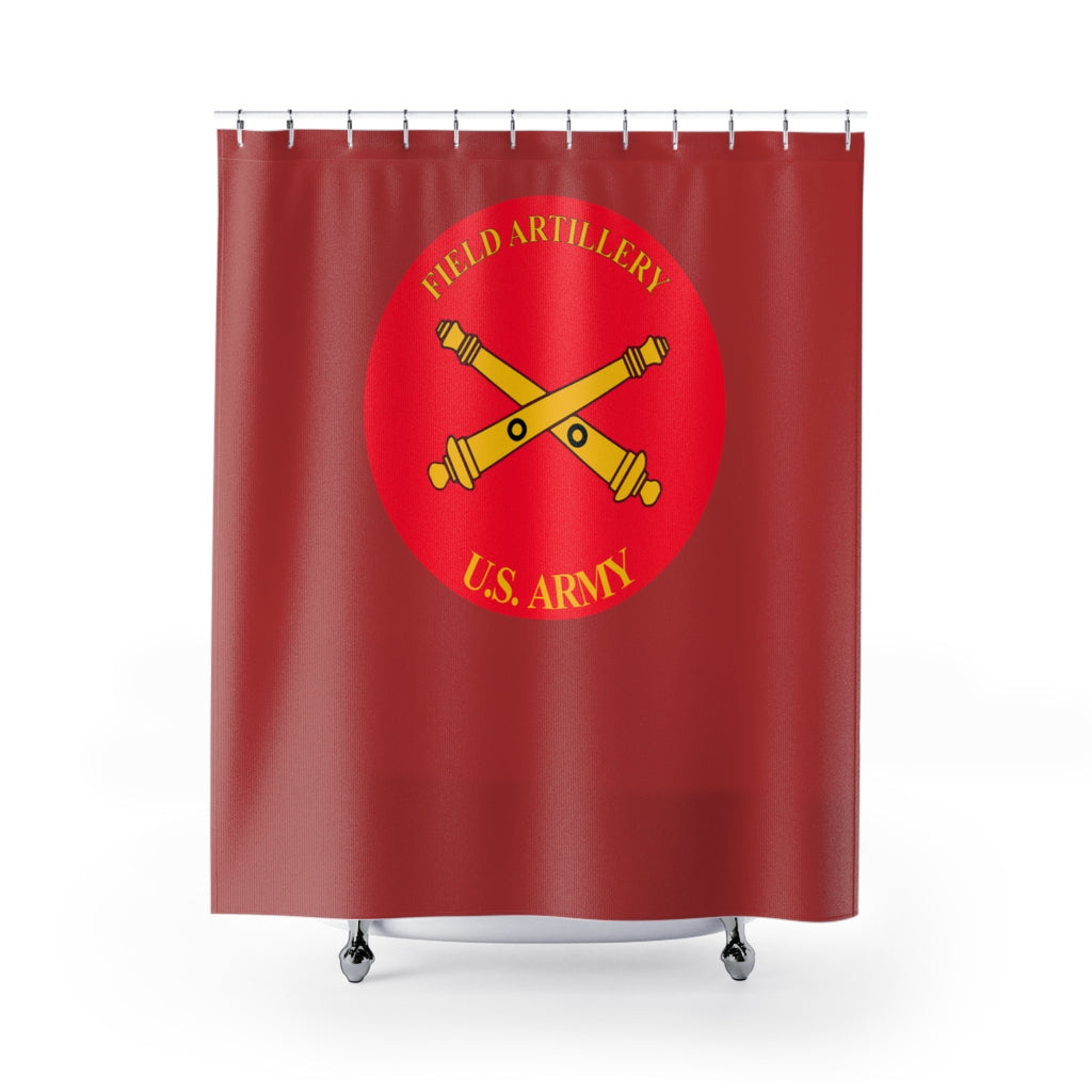 Red US Army - Scot - Shower Curtains