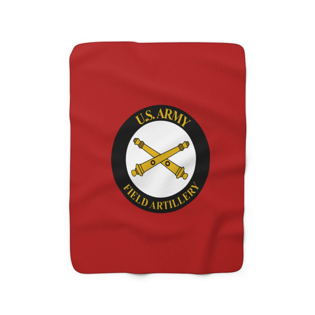 Red - US ARMY - Scot - Sherpa Fleece Blanket