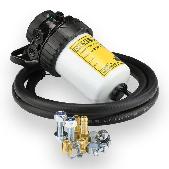 "71000 - Diesel Dog Universal Fuel Filter Kit - 3/8"" Hose Size - 2 Micron Filter"