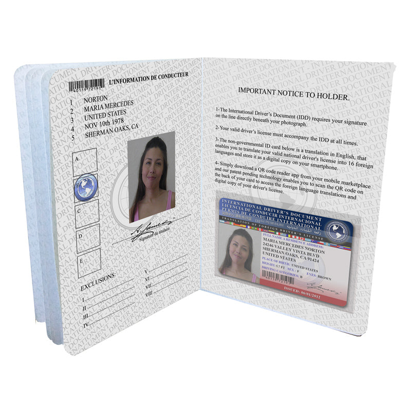 The International Driver's Document