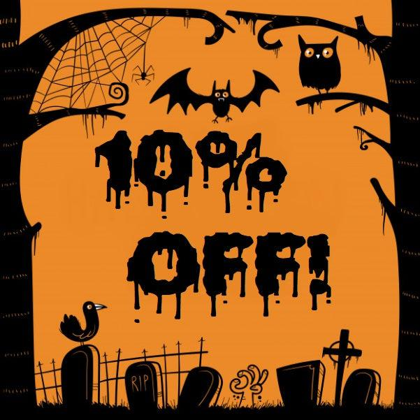 10% Off Your Entire Order, HALLOWEENfound.com